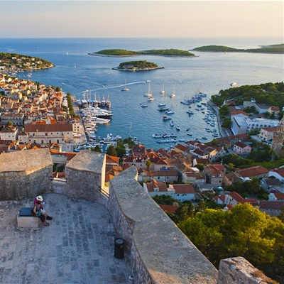Hvar city (port) on Hvar island, Croatia.