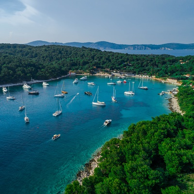 Pakleni islands near Hvar, Croatia.